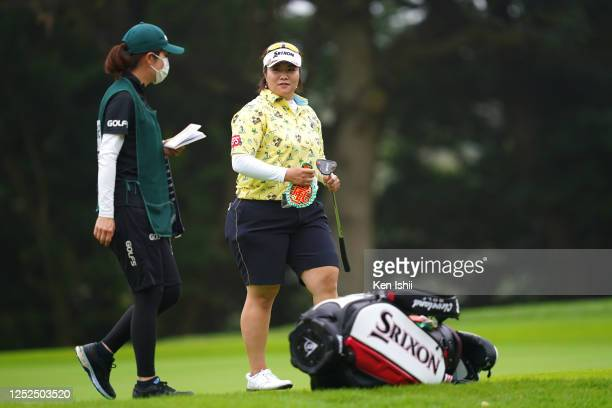 Miki Sakai of Japan is seen on the 10th green during the second round of the Earth Mondamin Cup at the Camellia Hills Country Club on June 26 2020 in...