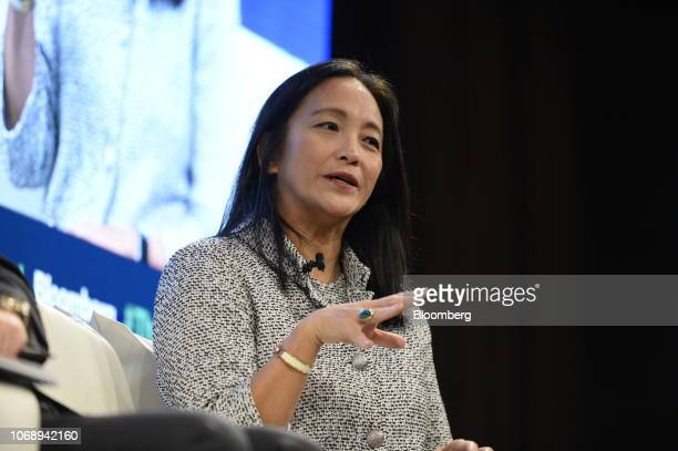 Miki Tsusaka managing director of Boston Consulting Group Inc speaks during the Bloomberg Year Ahead summit in Tokyo Japan on Thursday Dec 6 2018 The...