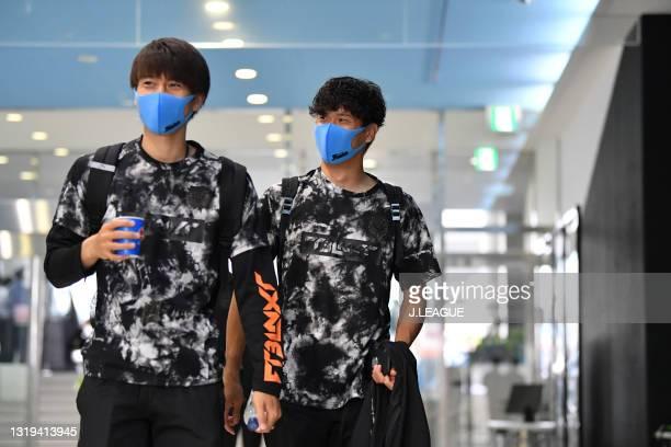 Miki YAMANE of Kawasaki Frontale is seen on arrival at the stadium prior to the J.League Meiji Yasuda J1 match between Kawasaki Frontale and Yokohama...