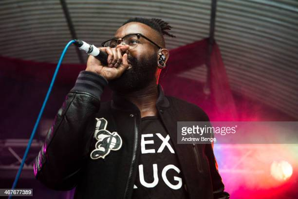 Mikill Pane performs on stage at Cockpit on February 7 2014 in Leeds United Kingdom