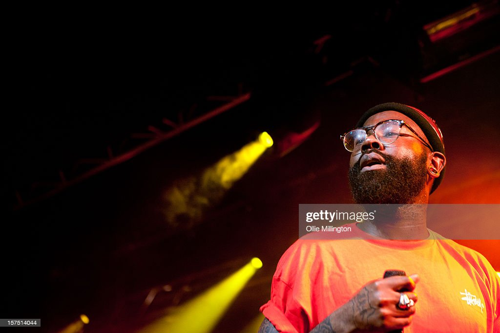 Mikill Pane performs onstage supporting Rizzle Kicks at Rock City on December 3, 2012 in Nottingham, England.