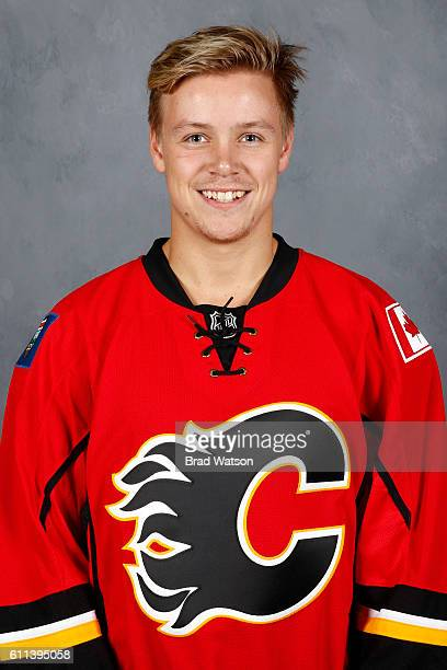 Mikkel Aagaard of the Calgary Flames poses for his official headshot for the 20162017 season on September 23 2016 at the Scotiabank Saddledome in...