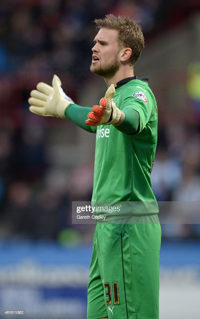 Mikkel Andersen of Reading during the FA Cup Third Round match between Huddersfield Town and Reading at Galpharm Stadium on January 3, 2015 in Huddersfield, England.