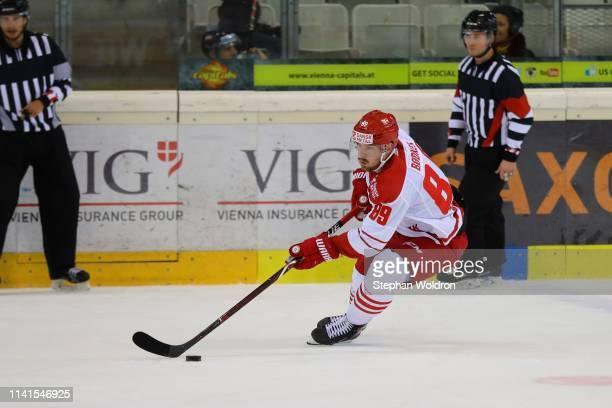 Mikkel Bodker of Denmark during the Austria v Denmark - Ice Hockey International Friendly at Erste Bank Arena on May 5, 2019 in Vienna, Austria.