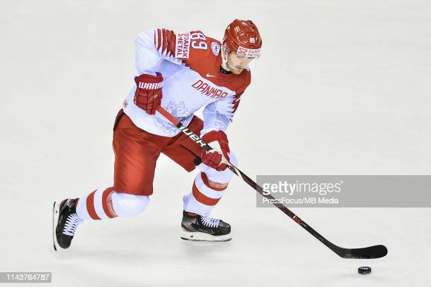 Mikkel Boedker of Denmark in action during the 2019 IIHF Ice Hockey World Championship Slovakia group A game between Great Britain and Denmark at...