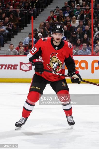 Mikkel Boedker of Ottawa Senators skates against the Vancouver Canucks at Canadian Tire Centre on January 2 2019 in Ottawa Ontario Canada