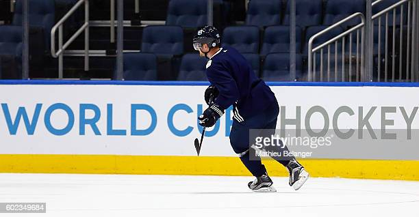 Mikkel Boedker of Team Europe skates during a practice at the Centre Videotron on September 7 2016 in Quebec City Quebec Canada