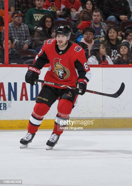 Mikkel Boedker of the Ottawa Senators skates against the Minnesota Wild at Canadian Tire Centre on January 5 2019 in Ottawa Ontario Canada