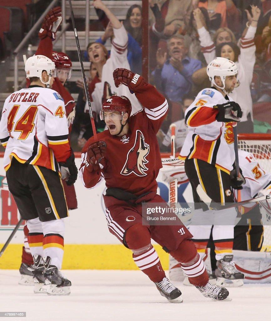 Calgary Flames v Phoenix Coyotes : News Photo