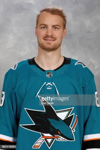 Mikkel Boedker of the San Jose Sharks poses for his official headshot for the 201718 season on September 14 2017 at Sharks Ice in San Jose California