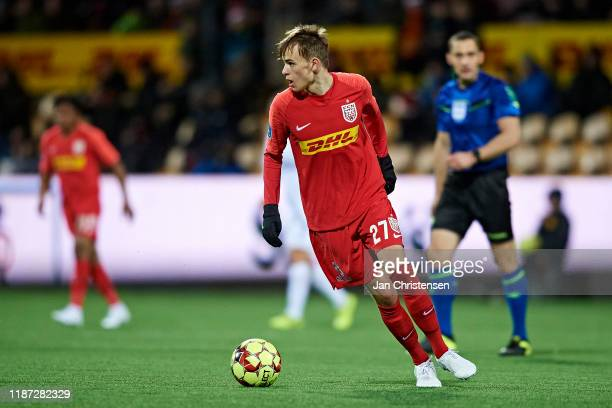 Mikkel Damsgaard of FC Nordsjalland in action during the Danish 3F Superliga match between FC Nordsjalland and FC Copenhagen at Right to Dream Park...