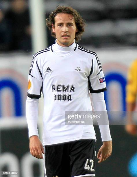 Mikkel Diskerud of Rosenborg BK in action during the UEFA Europa League group stage match between Rosenborg BK and FC Metalist Kharkiv held on...