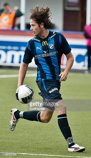 Mikkel Diskerud of Stabaek Fotball in action during the Norwegian Tippeligaen match between Tromso IL and Stabaek Fotball held on June 26 2011 at the...