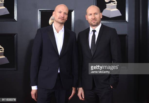 Mikkel Eriksen and Tor Hermansen of Stargate attend the 60th Annual GRAMMY Awards at Madison Square Garden on January 28 2018 in New York City