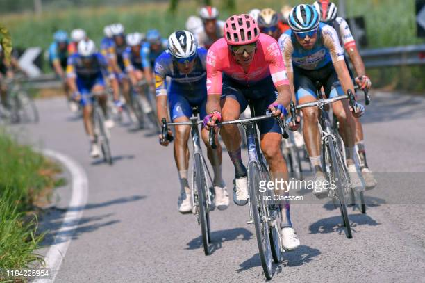 Mikkel Frølich Honoré of Denmark and Team Deceuninck-QuickStep / Sep Vanmarcke of Belgium and Team EF Education First / Ben Hermans of Belgium and...