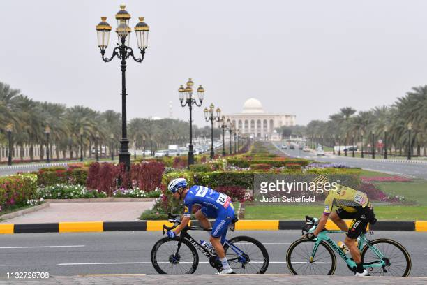 Mikkel Frolich Honore of Denmark and Team Deceuninck-QuickStep / Paul Martens of Germany and Team Jumbo-Visma / American University of Sharjah /...
