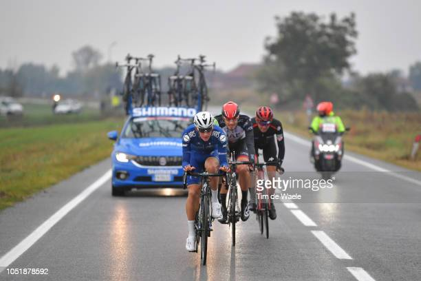Mikkel Frolich Honore of Denmark and Team Quick Step Floors / Filippo Ganna of Italy and UAE Team Emirates / Joey Rosskopf of The United States and...