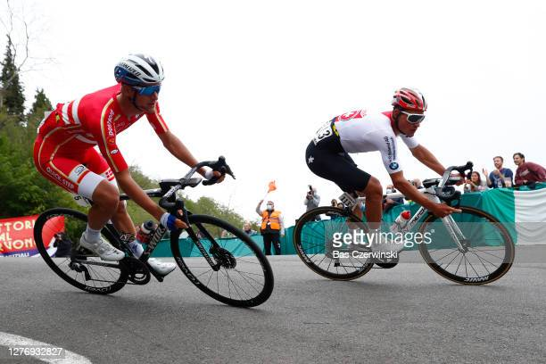 Mikkel Frolich Honore of Denmark / Silvan Dillier of Switzerland / during the 93rd UCI Road World Championships 2020, Men Elite Road Race a 258,2km...