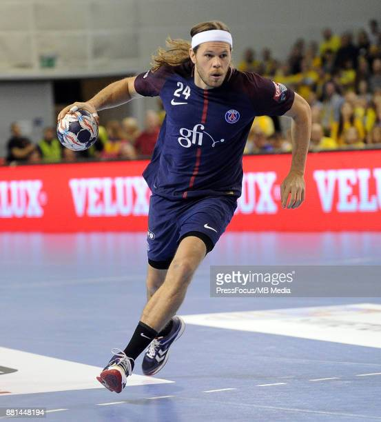 Mikkel Hansen during the EHF Men's Champions League Game between PGE Vive Kielce and PSG Handball on November 26 2017 in Kielce Poland