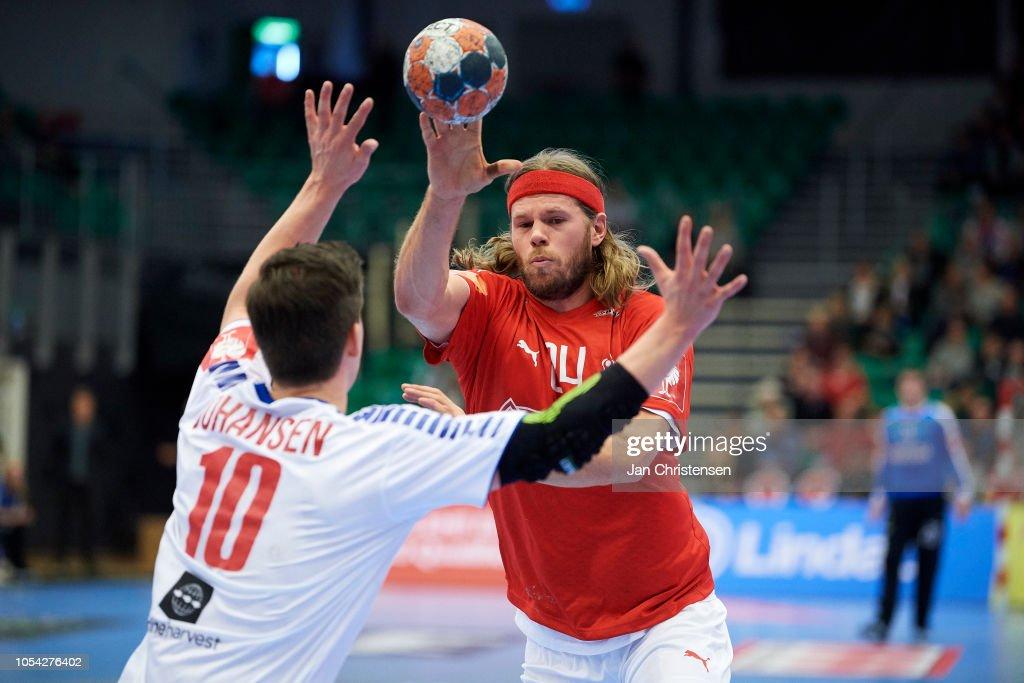 Mikkel Hansen Of Denmark In Action During The Ehf Euro 2020