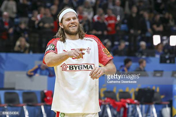 Mikkel Hansen of Denmark is celebrating the victory of the 25th IHF Men's World Championship 2017 match between Egypt and Denmark at Accorhotels...