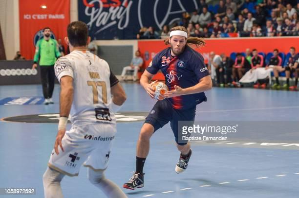 Mikkel Hansen of Paris Saint Germain during the Lidl Starligue match between Paris Saint Germain and Pays d'Aix Universite Club at Stade Pierre de...