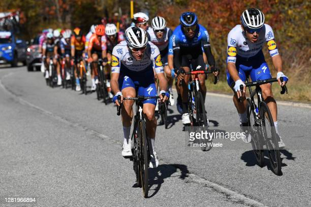 Mikkel Honore of Denmark and Team Deceuninck - Quick-Step / Davide Ballerini of Italy and Team Deceuninck - Quick-Step / Breakaway / during the 103rd...