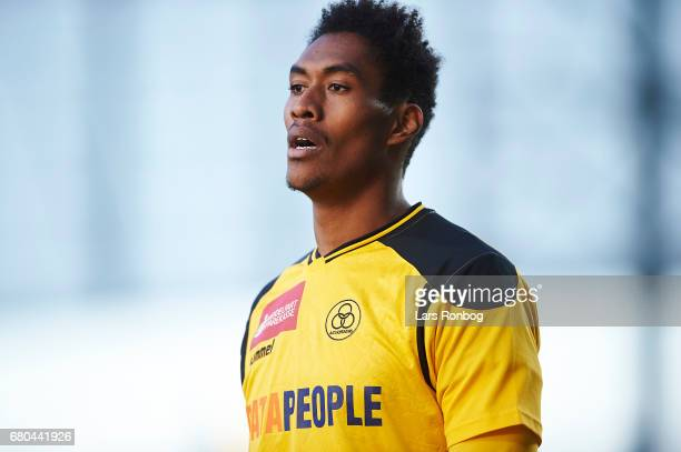 Mikkel Mena Qvist of AC Horsens looks on during the Danish Alka Superliga match between AC Horsens and Randers FC at Casa Arena on May 8 2017 in...