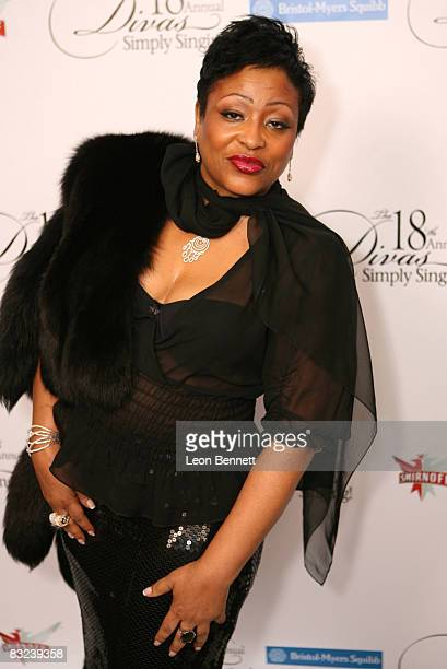 Mikki Howard attends The 18th Annual Divas Simply Singing Charity Event at The Wilshire Theatre on October 11 2008 in Beverly Hills California
