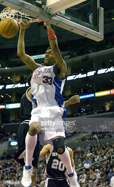 Mikki Moore of the Los Angeles Clippers during 9879 loss to the San Antonio Spurs at the Staples Center in Los Angeles Calif on Friday December 31...