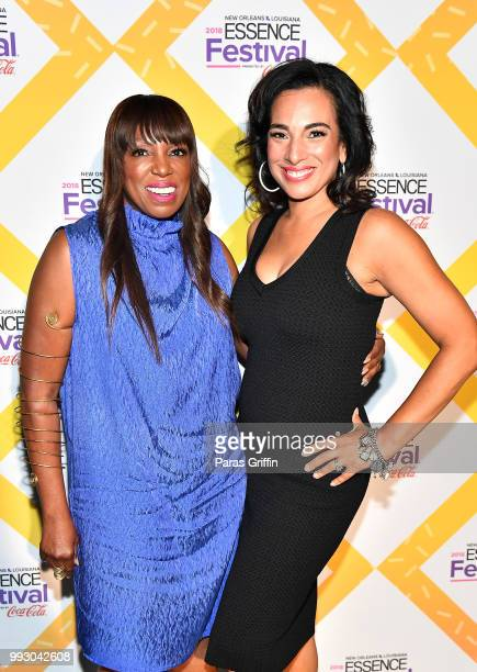 Mikki Taylor and Michelle Miller attend the 2018 Essence Festival presented by CocaCola at Ernest N Morial Convention Center on July 6 2018 in New...