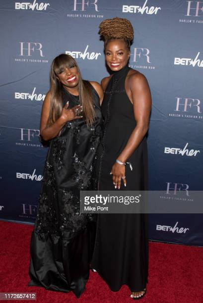 Mikki Taylor and Tai Beauchamp attends Harlem Fashion Row at One World Trade Center on September 05, 2019 in New York City.
