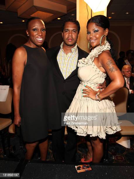 Mikki Taylor Johnny Nunez and Misa HyltonBrim attend the 2nd annual Blackout Awards at the Newark Hilton Gateway Hotel on June 12 2011 in Newark New...