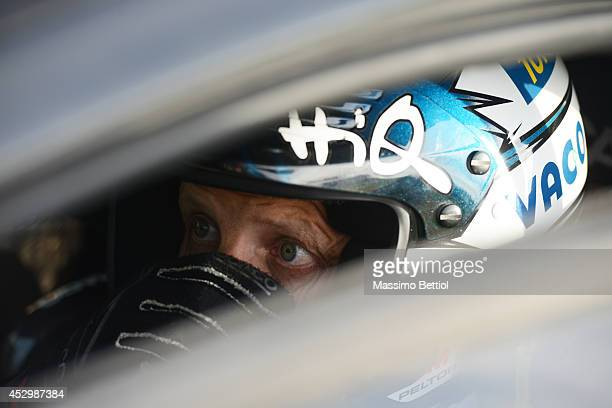 Mikko Hirvonen of Finland during the Shakedown of the WRC Finland on July 31 2014 in Jyvaskyla Finland