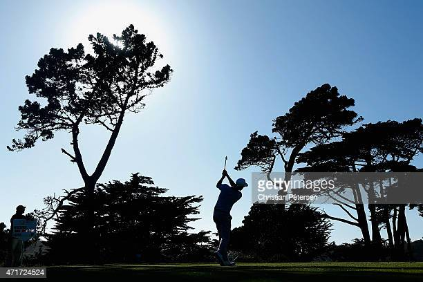 Mikko Ilonen of Finland hits a tee shot on the 13th hole during round two of the World Golf Championship Cadillac Match Play at TPC Harding Park on...