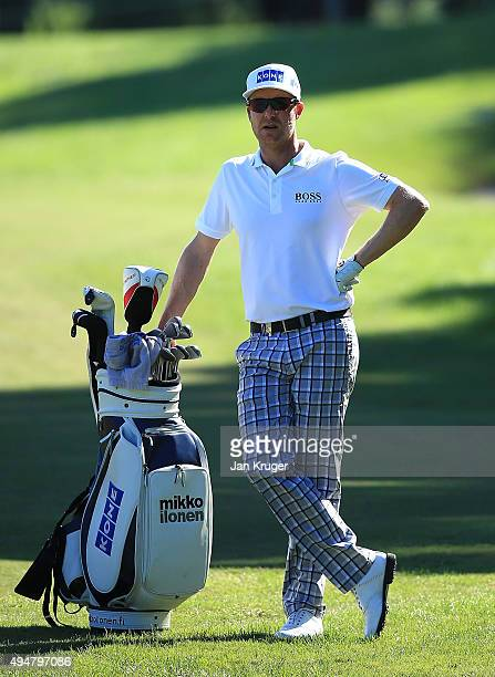 Mikko Ilonen of Finland looks on during the first round of the Turkish Airlines Open at The Montgomerie Maxx Royal Golf Club on October 29 2015 in...