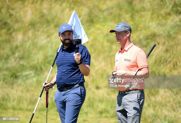 Mikko Ilonen of Finland on the 18th green during the proam event prior to the Dubai Duty Free Irish Open at Ballyliffin Golf Club on July 4 2018 in...