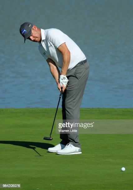 Mikko Ilonen of Finland plays a practice round ahead of the HNA Open de France at Le Golf National on June 26 2018 in Paris France