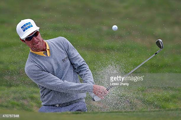 Mikko Ilonen of Finland plays a shot during the day one of the Volvo China Open at Tomson Shanghai Pudong Golf Club on April 23 2015 in Shanghai China