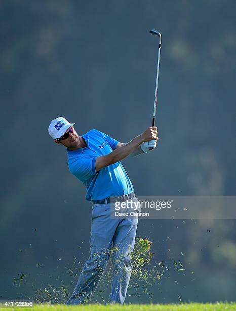 Mikko Ilonen of Finland plays his third shot at the par 4 12th hole during round two of the World Golf Championship Cadillac Match Play at TPC...