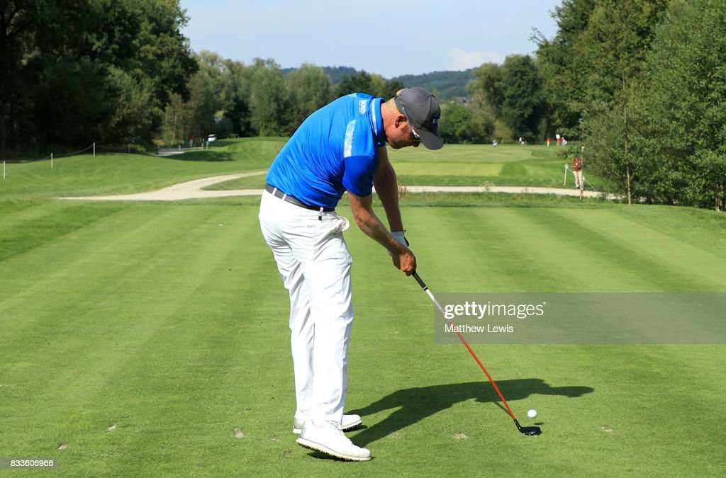 Mikko Ilonen of Finland tees off on the 11th hole during round one of the Saltire Energy Paul Lawrie Matchplay at Golf Resort Bad Griesbach on August 17, 2017 in Passau, Germany.