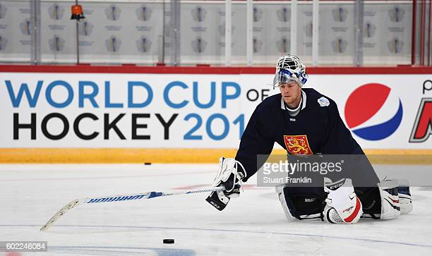 Mikko Koivu of Finland during practice for Team Finland at the Hartwell Areena on September 7 2016 in Helsinki Finland