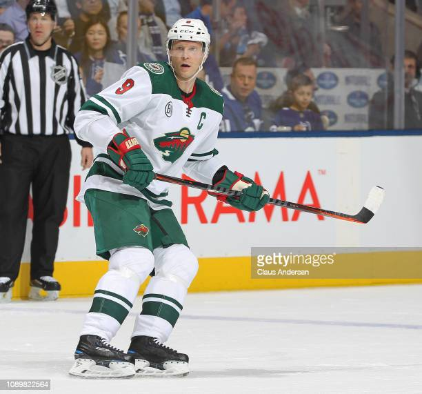 Mikko Koivu of the Minnesota Wild skates against the Toronto Maple Leafs during the Next Generation NHL game at Scotiabank Arena on January 3 2019 in...