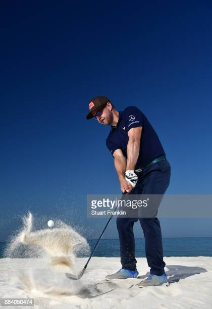 Mikko Korhonen of Finalnd plays a shot during practice prior to the start of The Rocco Forte Open at Verdura Golf and Spa Resort on May 17, 2017 in...