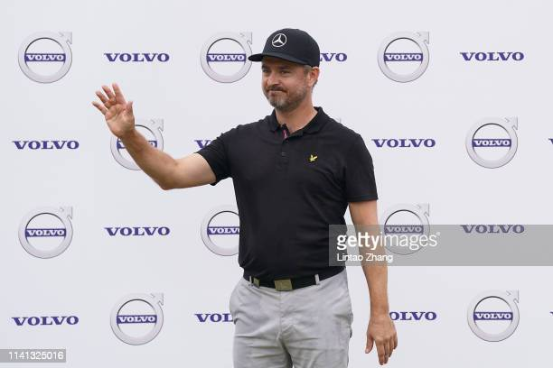 Mikko Korhonen of Finland celebrates after winning the 2019 Volvo China Open at Genzon Golf Club on May 5 2019 in Shenzhen China
