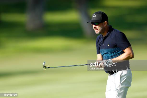 Mikko Korhonen of Finland hits his second shot on the 13th hole during day two of the Estrella Damm NA Andalucia Masters hosted by the Sergio Garcia...