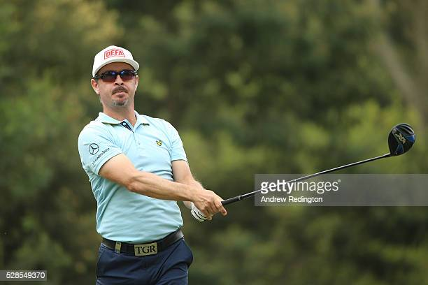 Mikko Korhonen of Finland hits his tee shot on the 16th hole during the second round of the Trophee Hassan II at Royal Golf Dar Es Salam on May 6...