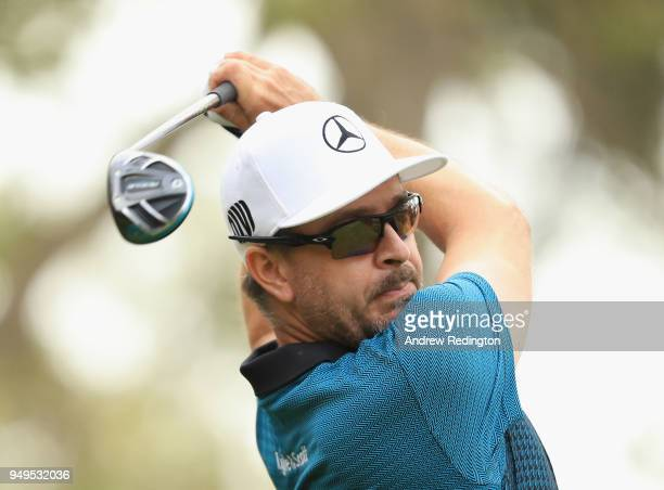 Mikko Korhonen of Finland hits his teeshot on the first hole during the third round of the Trophee Hassan II at Royal Golf Dar Es Salam on April 21...