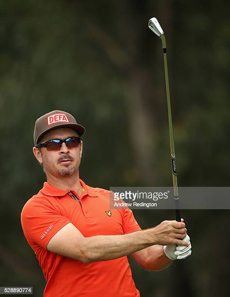 Mikko Korhonen of Finland hits his teeshot on the second hole during the third round of the Trophee Hassan II at Royal Golf Dar Es Salam on May 7...