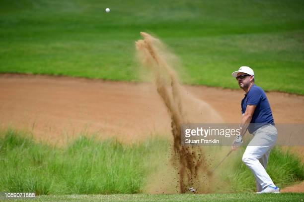 Mikko Korhonen of Finland in action during day one of the Nedbank Golf Challenge at Gary Player Golf Course on November 8, 2018 in Sun City, South...